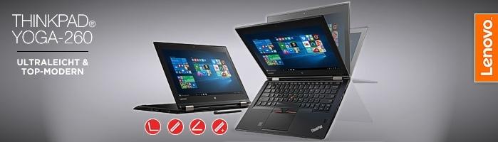 Lenovo ThinkPad® Yoga-260 - Convertible Ultrabook™ mit aufladbarem Digitalisierstift für punktgenaue Eingaben