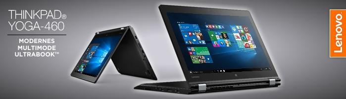 Lenovo ThinkPad® Yoga-460 - Convertible Ultrabook™ mit aufladbarem Digitalisierstift für punktgenaue Eingaben