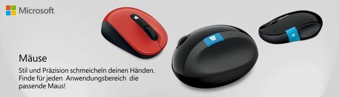Microsoft Zubehör - Stil und Präzision schmeicheln deinen Händen.   Finde für jeden  Anwendungsbereich  die  passende Maus!