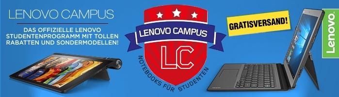 Lenovo University & Campus - Das offizielle Lenovo Studentenprogramm mit vielen tollen Angeboten und Sonderkonfigurationen für Schüler & Studenten, Azubis & Meisterschüler, Lehrkräfte, wissenschaftliche Mitarbeiter, Universitäten, Fachhochschulen sowie Fo