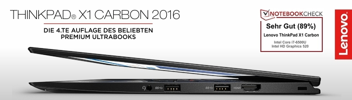 Lenovo Campus ThinkPad® X1 Carbon - Der Mercedes under den ThinkPad Ultrabooks