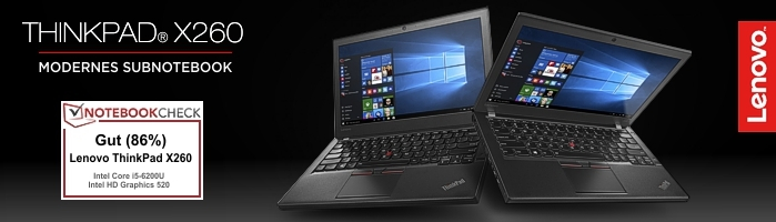 Lenovo Campus ThinkPad® X260 - Modernes Subnotebook