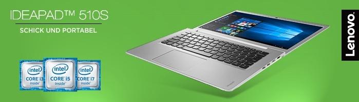 Lenovo IdeaPad™ 510S - Eleganter Begleiter für den Studienalltag