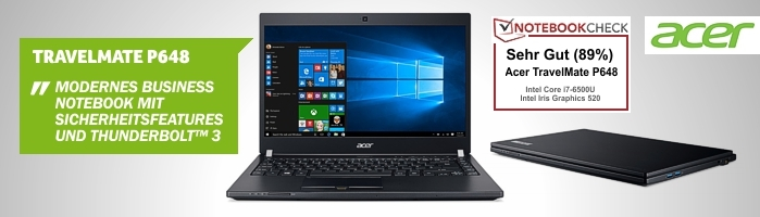 Acer TravelMate P648 - Modernes Business Notebook