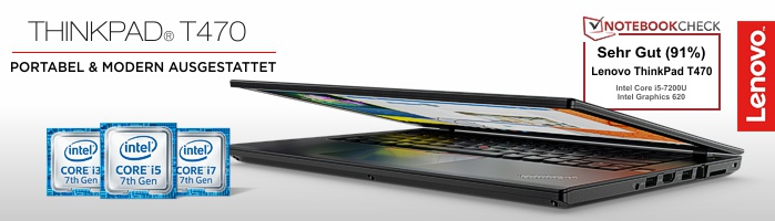 Lenovo Campus ThinkPad® T470 - Grundsolides Notebook mit tollem Testergebnis