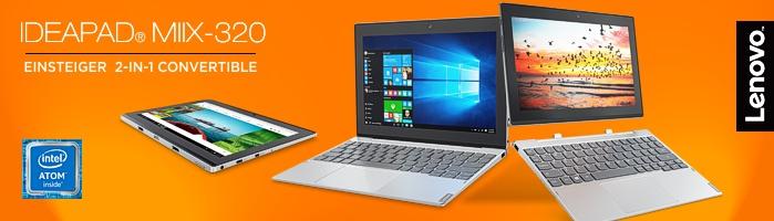 Lenovo IdeaPad Miix 320 - Preiswertes Einsteiger-Convertible