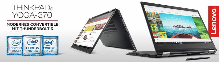 Lenovo ThinkPad® Yoga-370 - Convertible Ultrabook™ mit aufladbarem Digitalisierstift für punktgenaue Eingaben