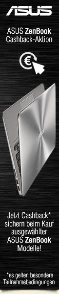 Asus Cashback Aktion - Jetzt bis zu €100 Cashback von Asus erhalten beim Kauf eines ausgewählten ZenBooks
