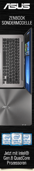 Asus ZenBook Sondermodelle jetzt mit Intel® Gen.8 QuadCore Prozessoren!