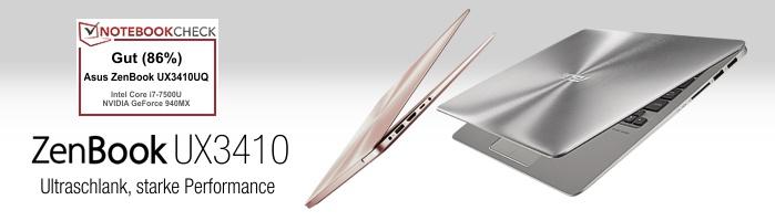 Asus ZenBook™ UX3410 - Ultraschlank, starke Performance