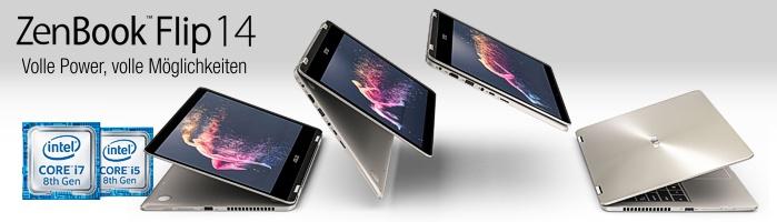 Asus ZenBook™ Flip 14 - Kraftvoll & elegant verfeinert