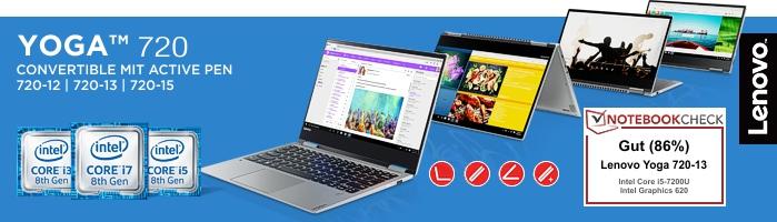 Lenovo Yoga 720 - Modernes Convertible Mit Intel Prozessoren der 7.ten Generation