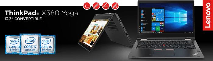 Lenovo ThinkPad® X380 Yoga - Convertible Ultrabook™ mit aufladbarem Digitalisierstift für punktgenaue Eingaben
