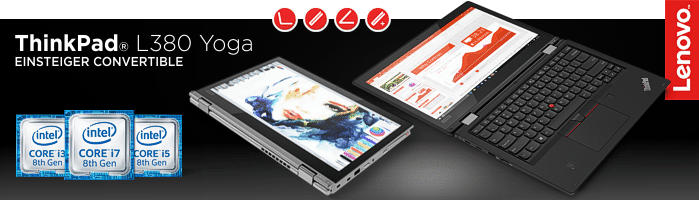 Lenovo Campus ThinkPad® L380 Yoga - Einsteiger Convertible in die ThinkPad Welt