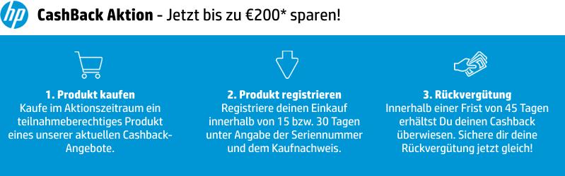HP CashBack Aktion - Jetzt bis zu €100 sparen!