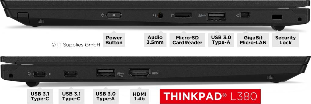 Anschlüsse des ThinkPad® L380