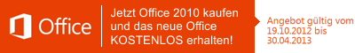 Microsoft Office 2013 Upgrade-Angebot