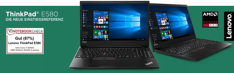 Lenovo Campus ThinkPad® E580 Serie für Studenten