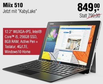 Lenovo Campus Miix 510 Pro Convertible inkl. Keyboard & Stift (silber)